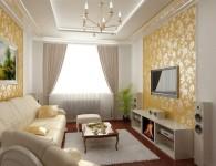 Ремонт в гостиной своими руками — фото варианты отделки