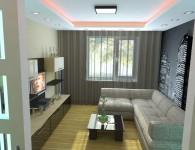 Идеи дизайна интерьера для маленькой комнаты спальни-гостиной