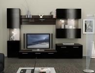Современные модульные стенки в гостиную (50 фото)