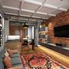 Дизайн гостиной в стиле лофт — 50 фото интерьеров