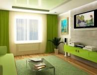 Гостиная в зеленых тонах — 50 фото интерьеров