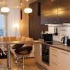 Кухня гостиная 14 кв м с диваном — дизайн фото