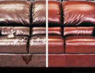 Перетяжка кожаных диванов и перетяжка мягкой мебели