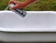Реставрация ванны аэрозольной эмалью