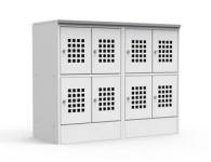 Оформление торгового зала металлическими шкафами