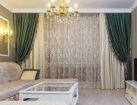 Особенности выбор качественных штор в гостиную