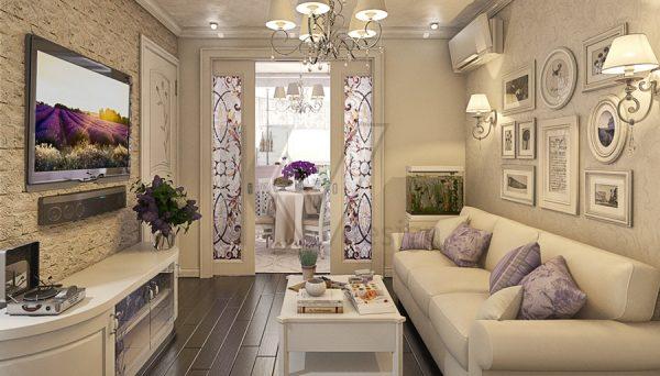 Стиль Прованс в оформлении гостиной