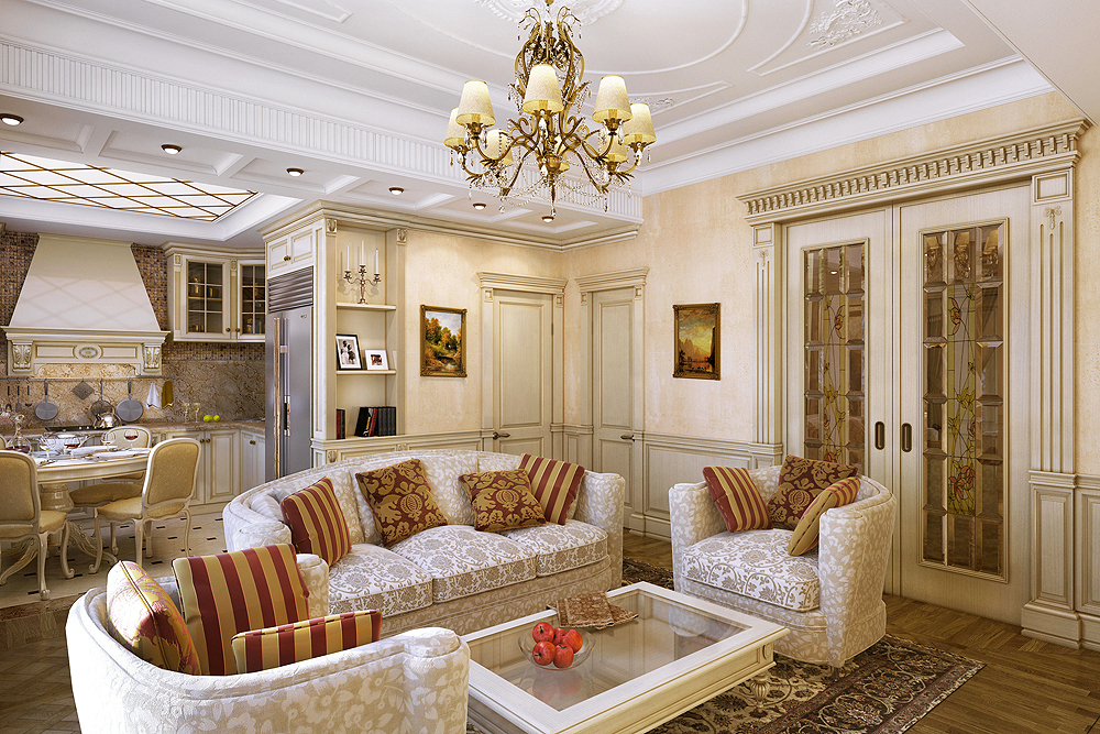 Симметрия в расположении мебели