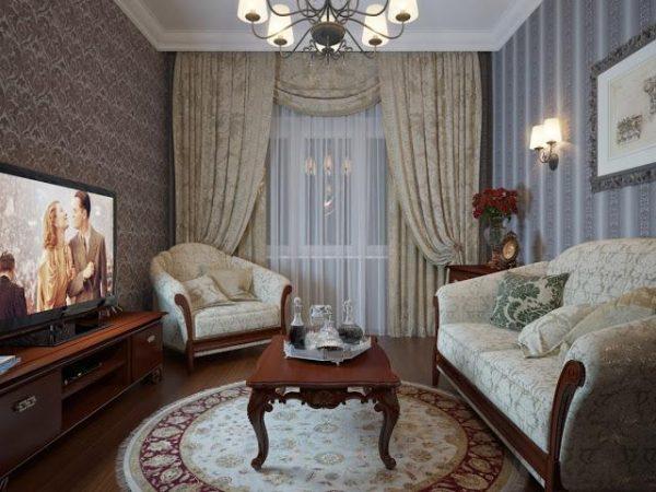 Удобная планировка небольшой гостиной