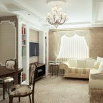 Светлая мебель в светлой гостиной