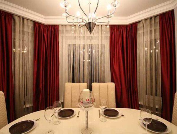 Блестящие атласные шторы для гостиной