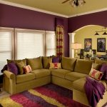 Стильная лиловая гостиная