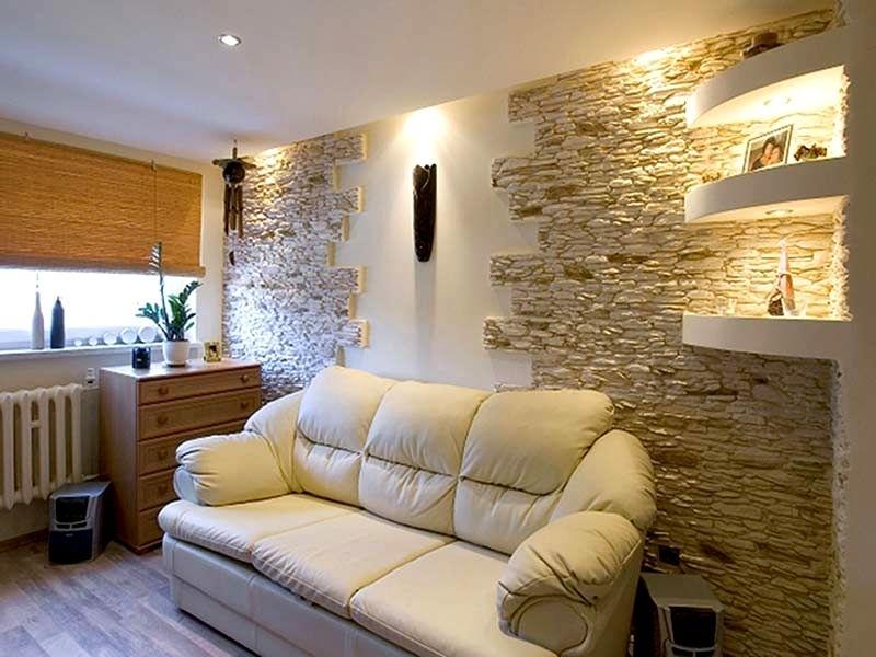Стены из декоративного камня