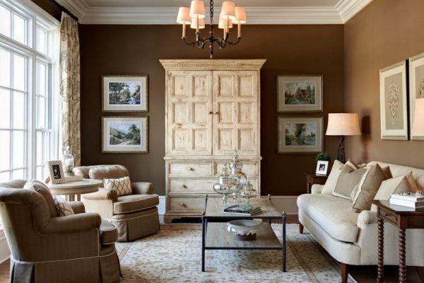 Сочетание коричневого цвета в домашнем интерьере