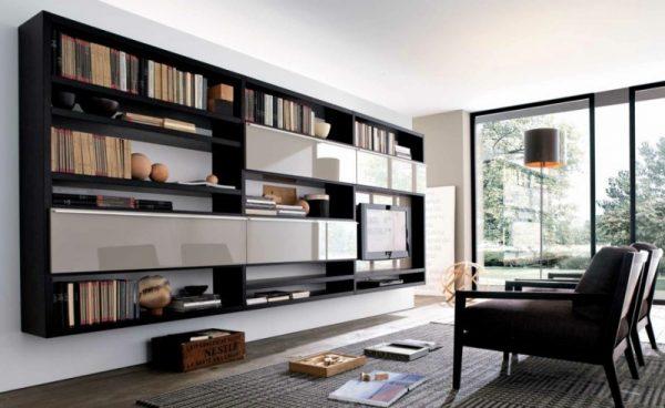 Шкаф в стиле модерн для гостиной