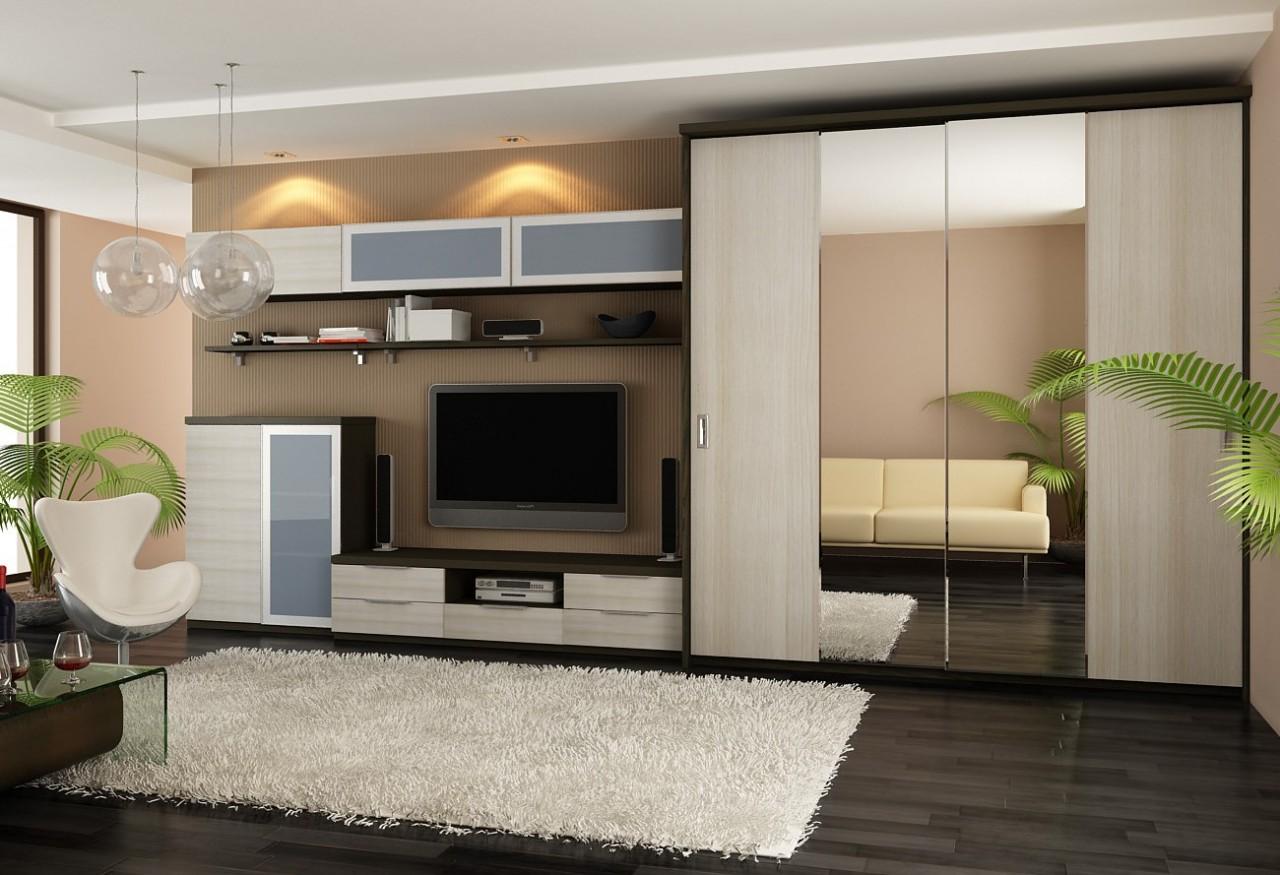 Стильный шкаф для гостиной