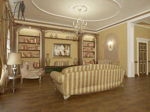 ТВ в классическом интерьере гостиной