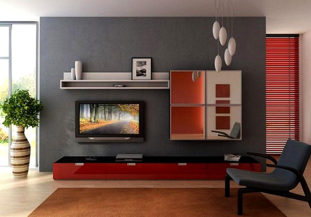 Яркя мебель в интерьере гостиной