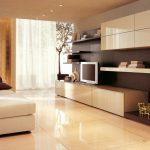 Бежевая мебель в стиле хай-тек