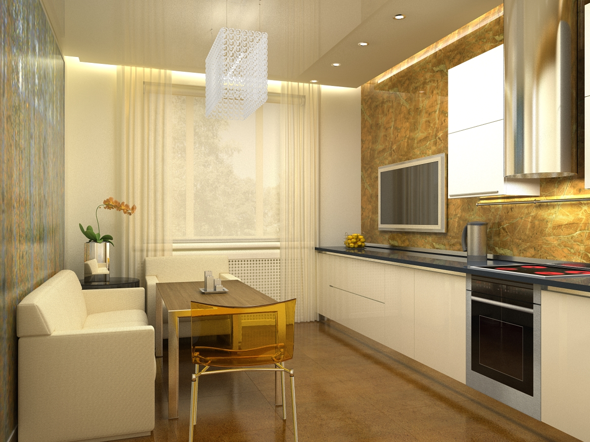 Кухня 14 м2 планировка и дизайн