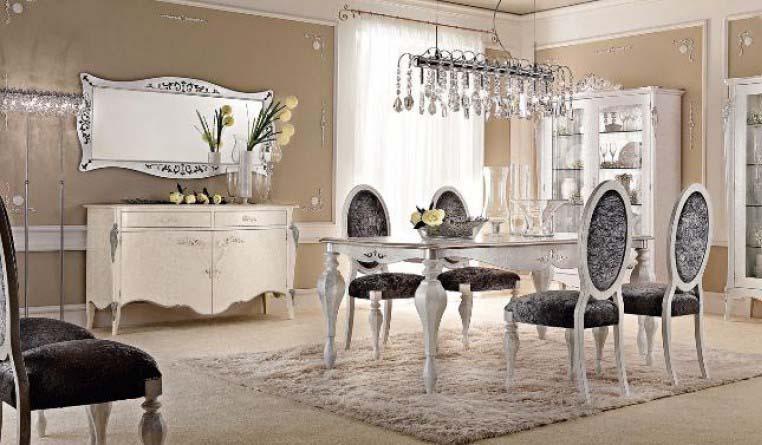 Итальянская гостиная выполнена в стиле ар деко.