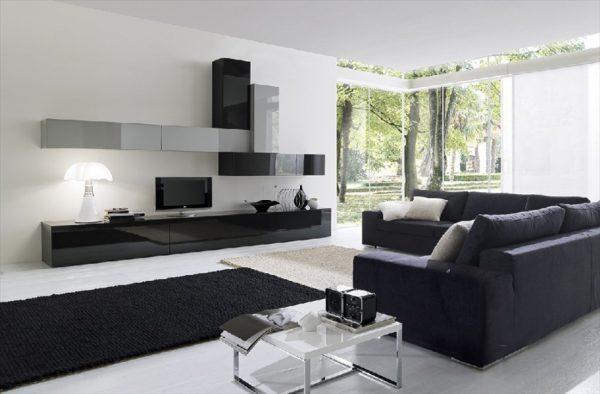 Модульная корпусная и мягкая мебель для гостиной