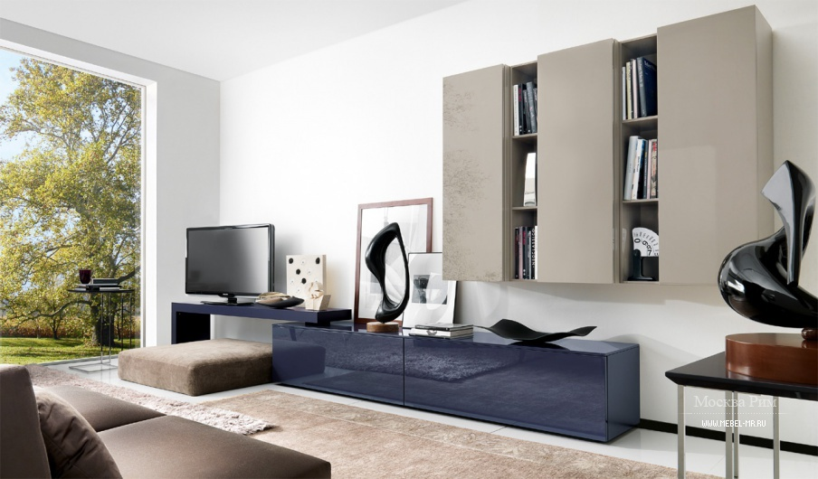 Гостиных с модульной мебелью в современном стиле
