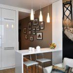 Фотообои в кухне -гостиной