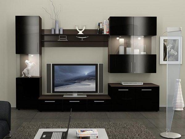 современные модульные стенки в гостиную 50 фото