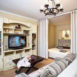 Гостиная спальня в классическом стиле