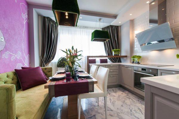 Кухня, объединенная с гостиной - стильно и современно