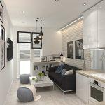 Дизайн малогабаритной кухни-гостиной