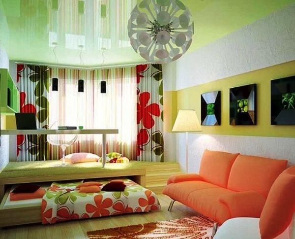 Подиум в маленькой спальне-гостиной