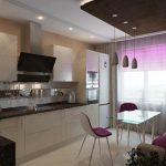 Интерьер небольшой кухни-гостиной
