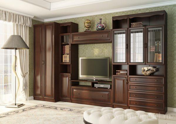 Модульная стенка в классическом стиле