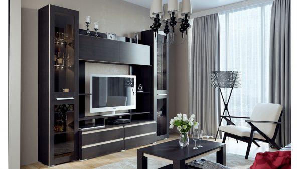 Модульная мебель с элементами из хромированного металла