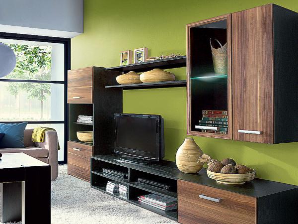 Сочетание зеленого, черно и коричневого цвета