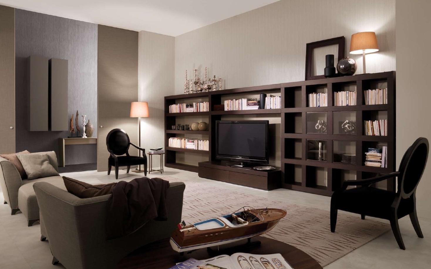 Вариант расстановки модульной мебели в гостиной