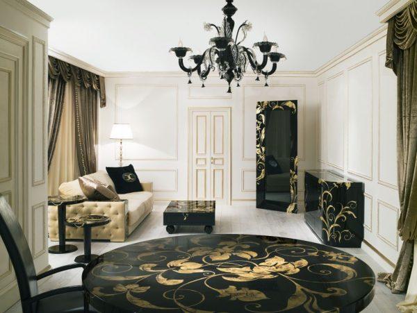 Мебель гостиной классического стиля из дерева благородных пород