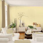 Белая мебель в светло бежевой гостиной