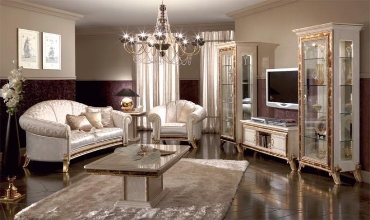Итальянская мебель для гостиной в классическом стиле.