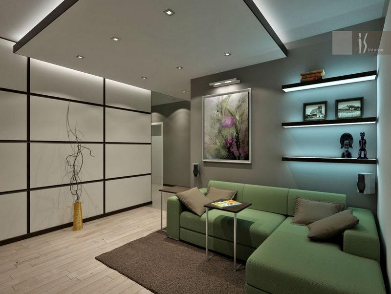 Спальня-гостиная в стиле хай тек