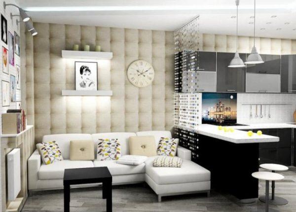 Кухня-гостиная в маленькой квартире
