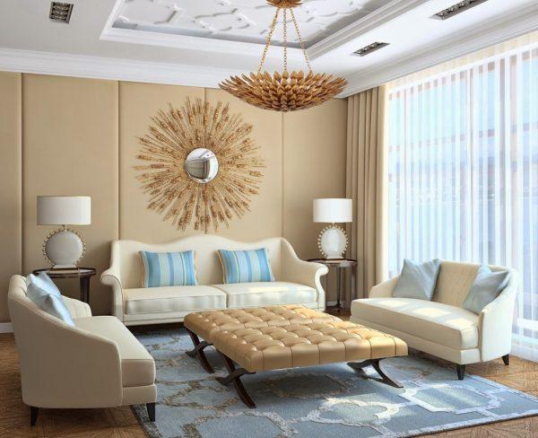Бежевый цвет в дизайне интерьера.