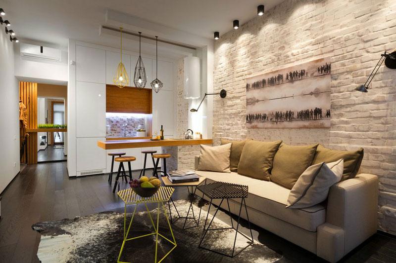 Гостиная в стиле лофт в квартире