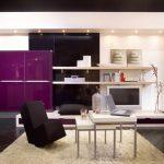 Модульная гостиная с фасадом из цветного пластика
