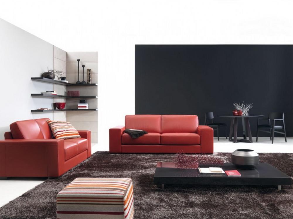Сочетание красного и черного цвета в интерьере