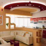 Оформляя кухню и гостиную можно выделить зоны с помощью декора.