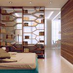 Вариант зонирования спальни гостиной