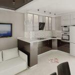 Создание интерьера кухни-гостиной